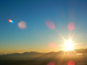 日光を浴びながら